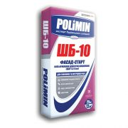 Полімін ШБ-10 Фасад-Старт Біла армована цементна шпаклівка