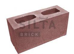 Блок гладкий Silta Brick вишневий #24-2