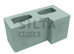 Блок гладкий угловой Silta Brick зеленый