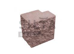 Напівблок повнотілий кутовий Silta Brick червоний #53