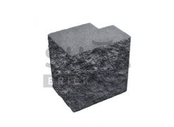 Напівблок повнотілий кутовий Silta Brick чорний #0-21