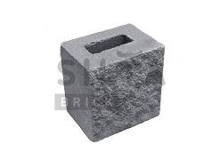 Напівблок декоративний Silta Brick чорний #0-21
