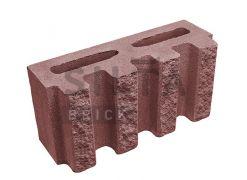 Блок канелюрний Silta Brick вишневий #24-2
