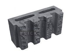 Блок канелюрний Silta Brick чорний #0-21