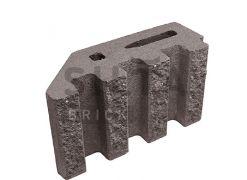 Блок канелюрный угловой Silta Brick коричневый