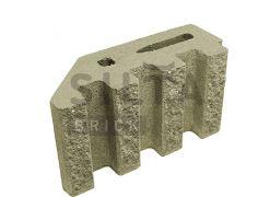 Блок канелюрный угловой Silta Brick песочный