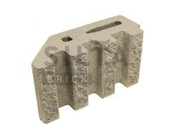 Блок канелюрный угловой Silta Brick бежевый