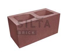 Блок гладкий широкий Silta Brick вишневий #24-2