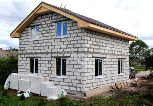 Дом с газоблоков своими руками фото